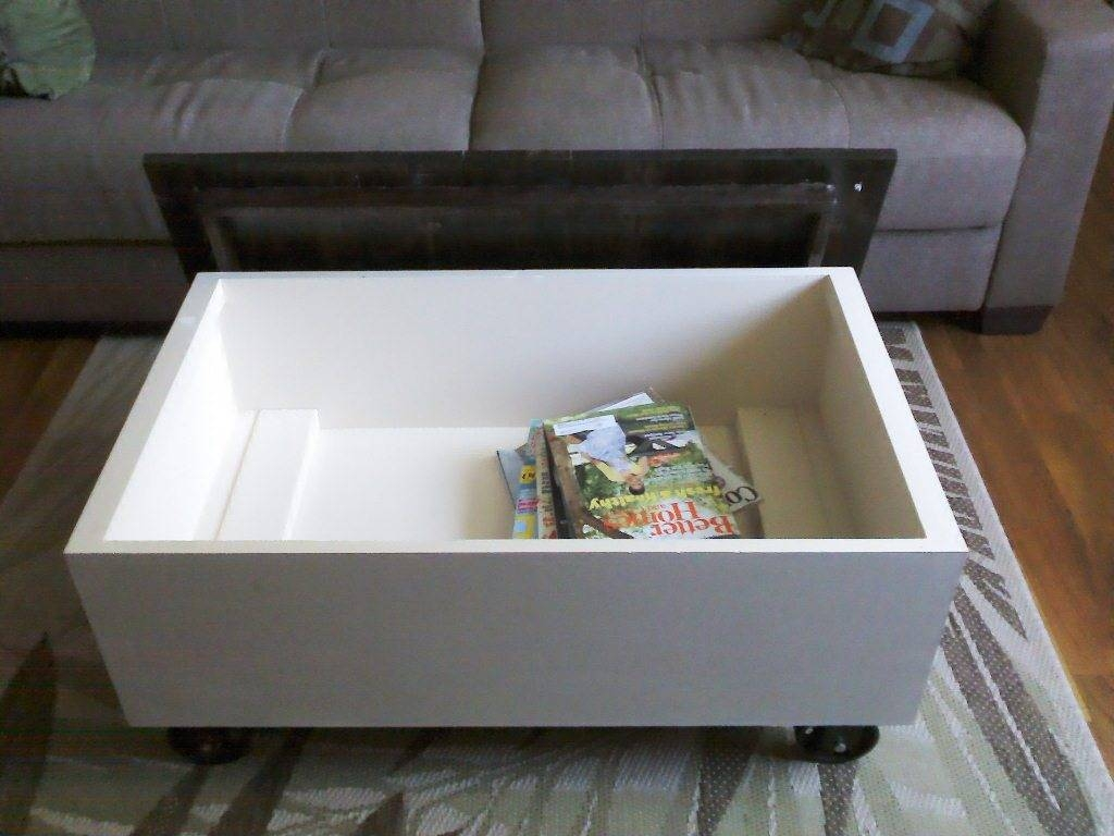 Coffee Table: Extraordinary White Coffee Table With Storage Design with White Coffee Tables With Storage (Image 6 of 30)