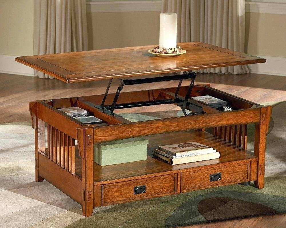 Coffee Table ~ Fabulous Lift Top Coffee Table Hinge About Design for Hinged Top Coffee Tables (Image 5 of 30)