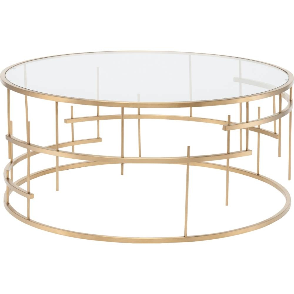 Coffee Table. Fascinating Glass Gold Coffee Table Designs With Glass Gold Coffee Tables (Photo 19 of 30)