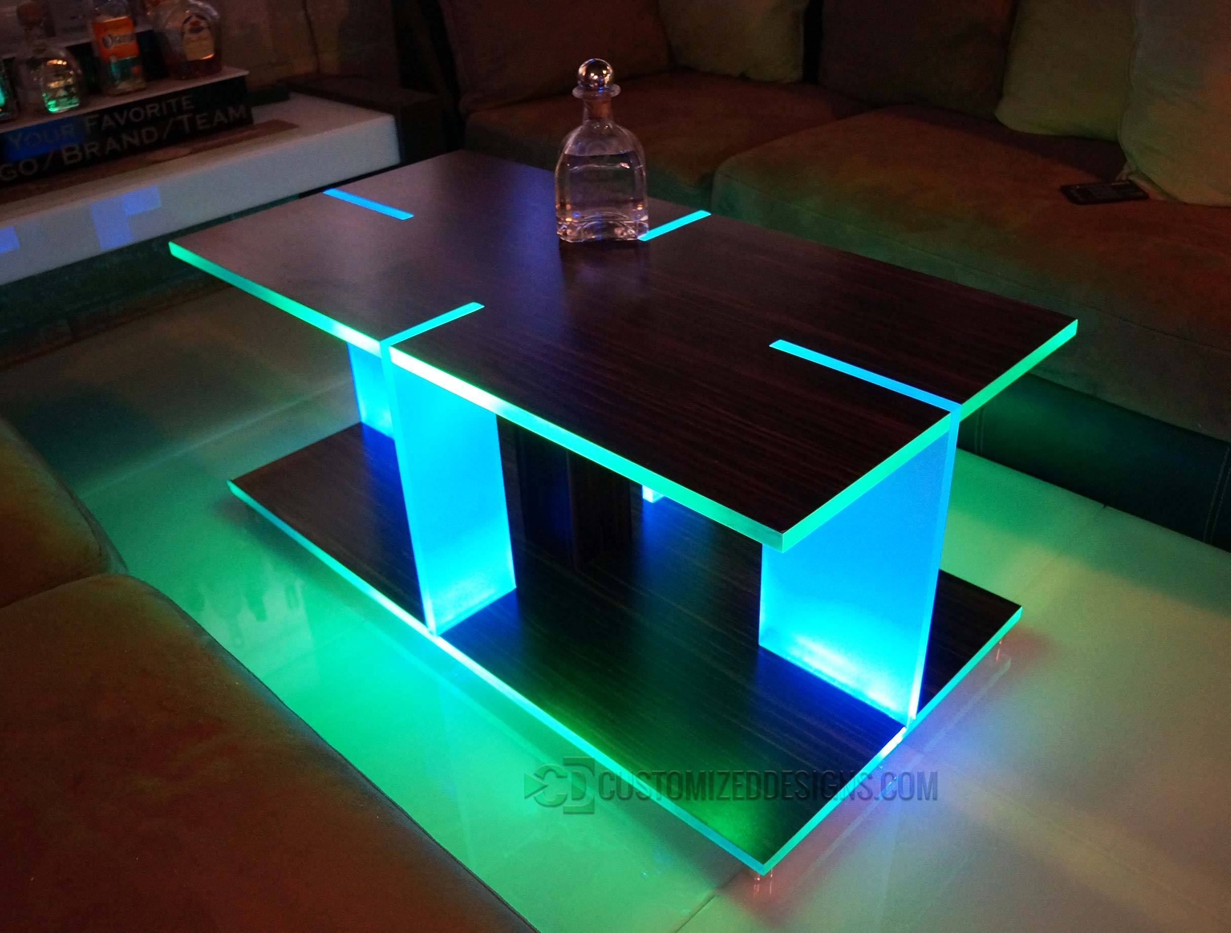 Coffee Table. Fascinating Led Coffee Table Ideas: Outstanding regarding Led Coffee Tables (Image 6 of 30)