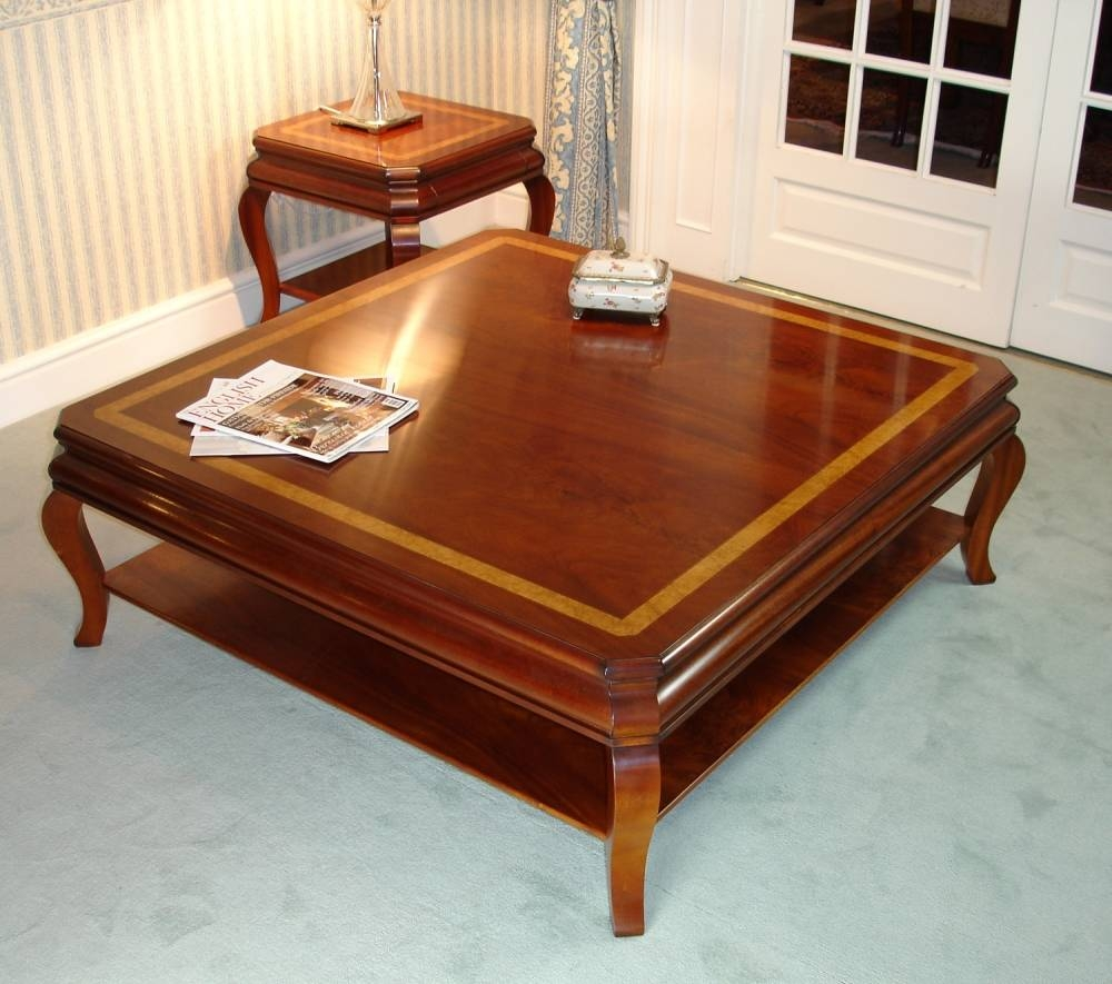Coffee Table: Fascinating Mahogany Coffee Table Ideas Large inside Mahogany Coffee Tables (Image 7 of 30)