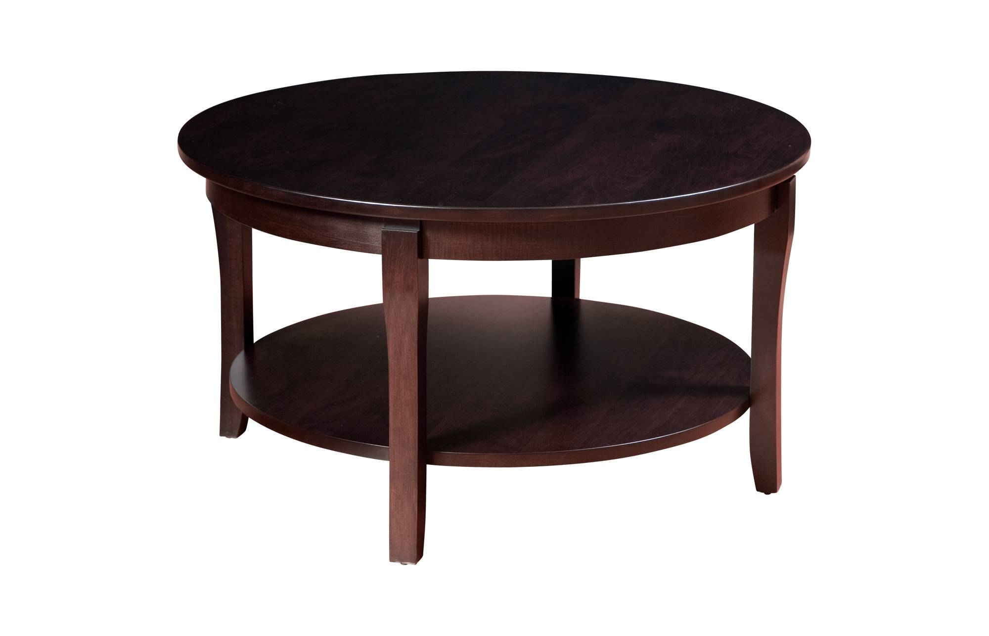 Coffee Table: Fascinating Round Wood Coffee Table Design Ideas intended for Solid Round Coffee Tables (Image 9 of 30)