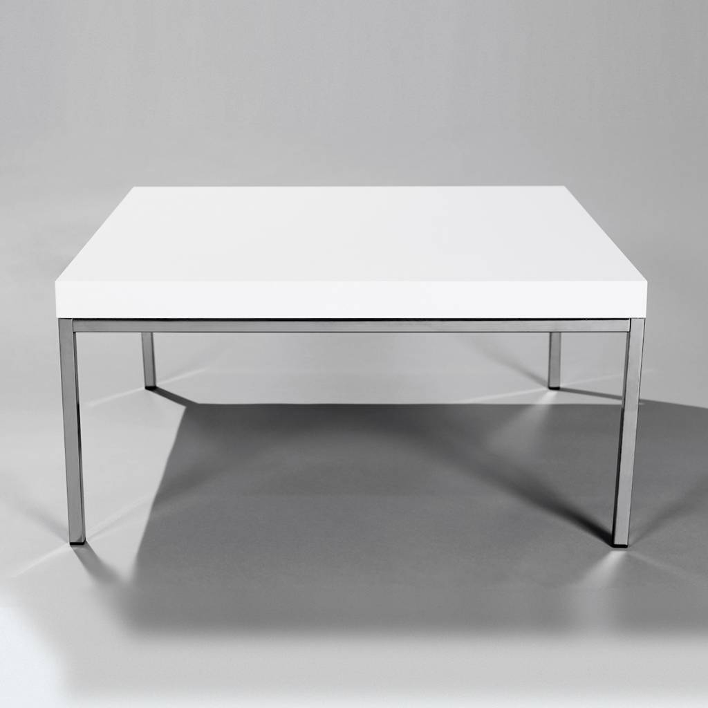 Coffee Table. Fascinating Square White Coffee Table Designs throughout Square White Coffee Tables (Image 1 of 30)