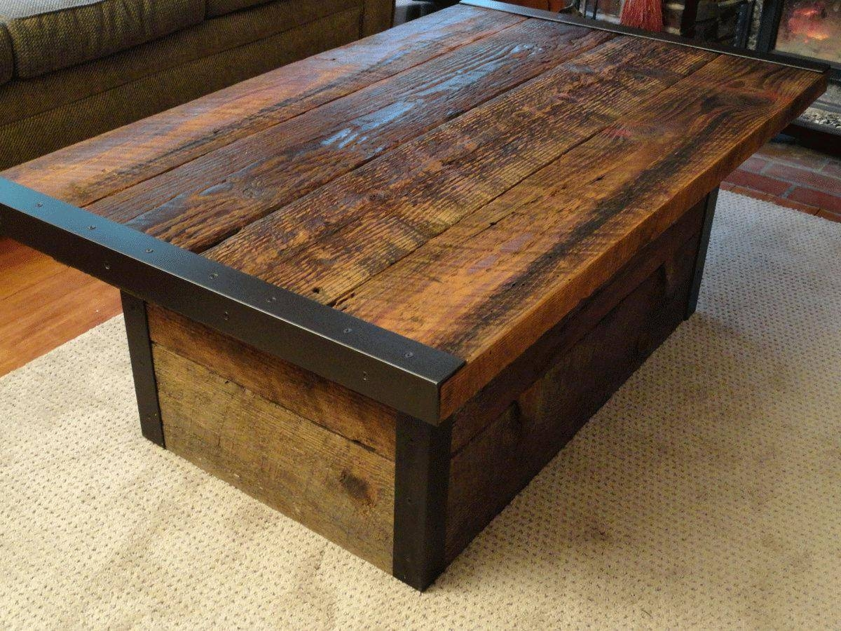 Coffee Table ~ Gallery Of Chic Rustic Looking Coffee Tables In regarding Rustic Looking Coffee Tables (Image 9 of 15)