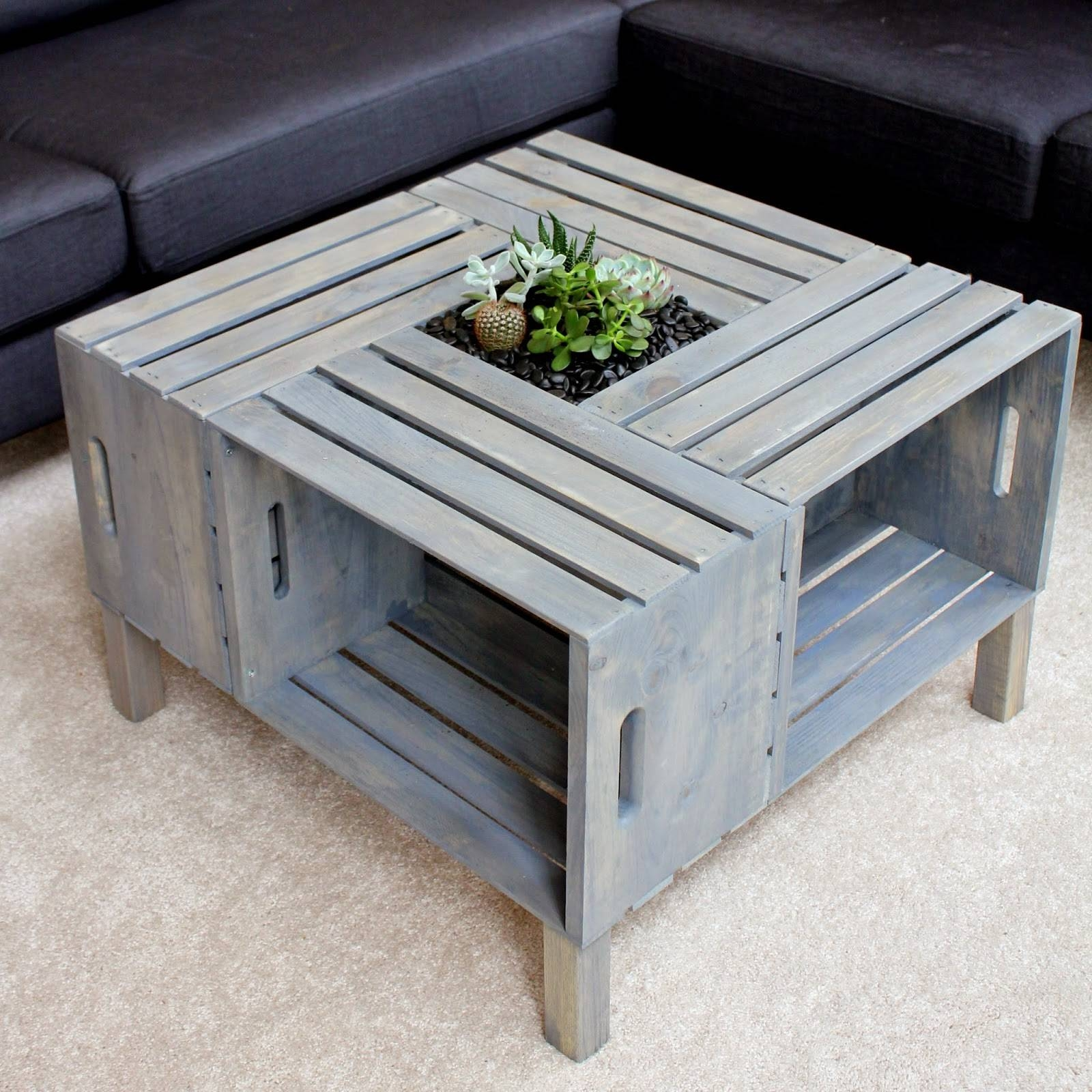 Coffee Table: Glamorous Homemade Coffee Table Design Ideas Rustic within Gray Wood Coffee Tables (Image 15 of 30)