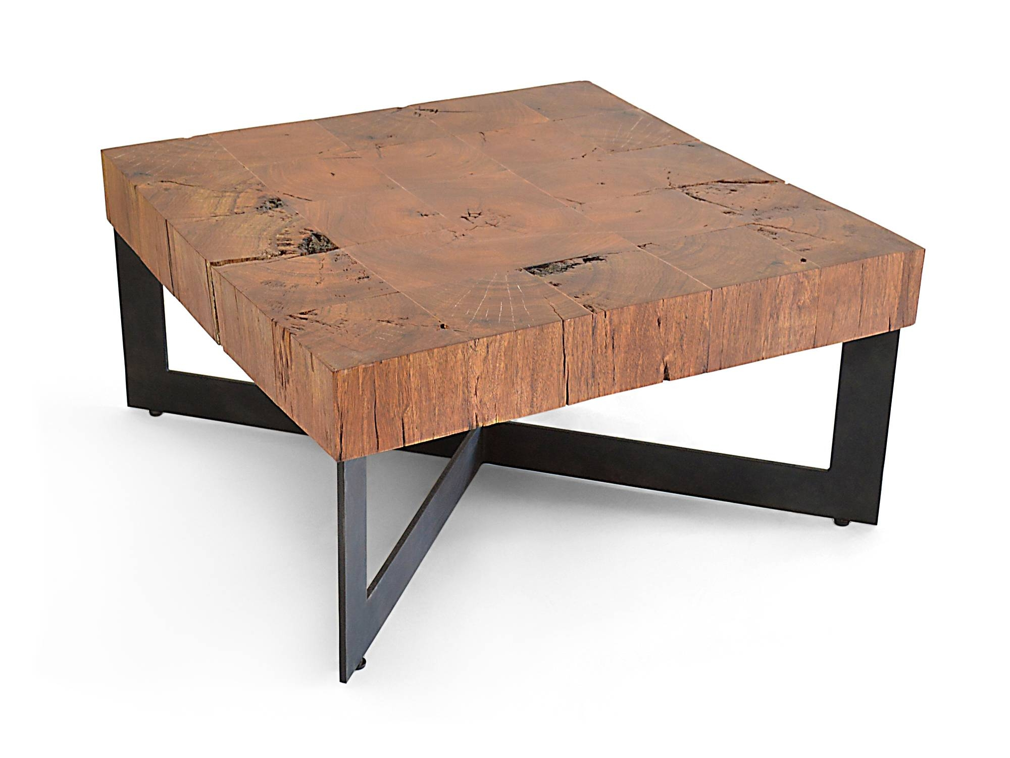Coffee Table. Glamorous Square Wood Coffee Table Ideas: Simple throughout Square Large Coffee Tables (Image 4 of 30)