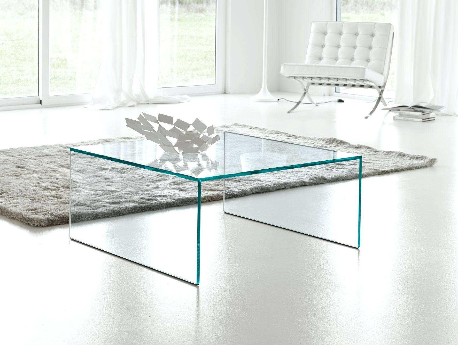Coffee Table ~ Glass Large Square Coffee Table On 4 Legslarge regarding Large Square Glass Coffee Tables (Image 8 of 30)
