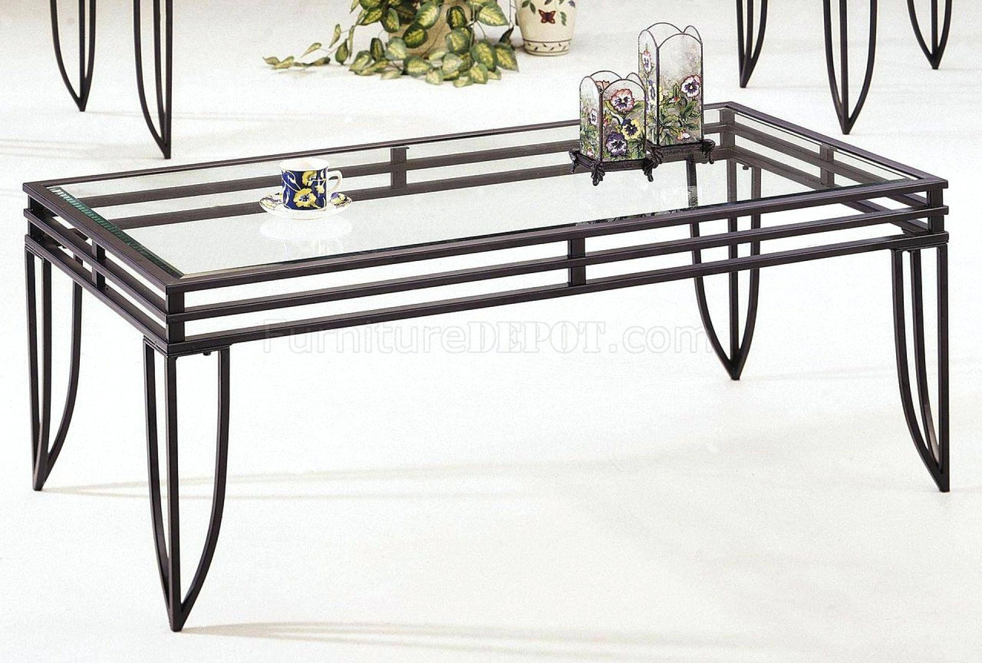 Coffee Table: Glass Metal Coffee Table. Glass Top Metal Coffee inside Glass and Metal Coffee Tables (Image 8 of 30)