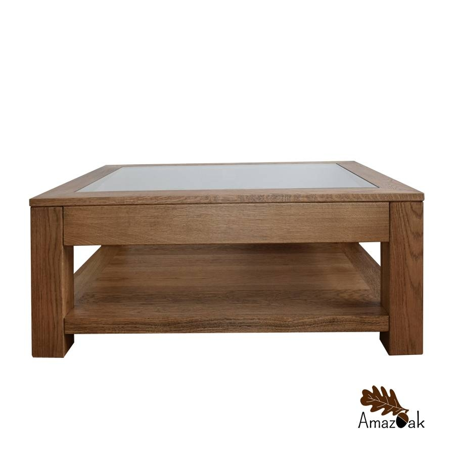 Coffee Table Glass Top Display Drawer - Amazoak for Coffee Tables With Glass Top Display Drawer (Image 5 of 30)