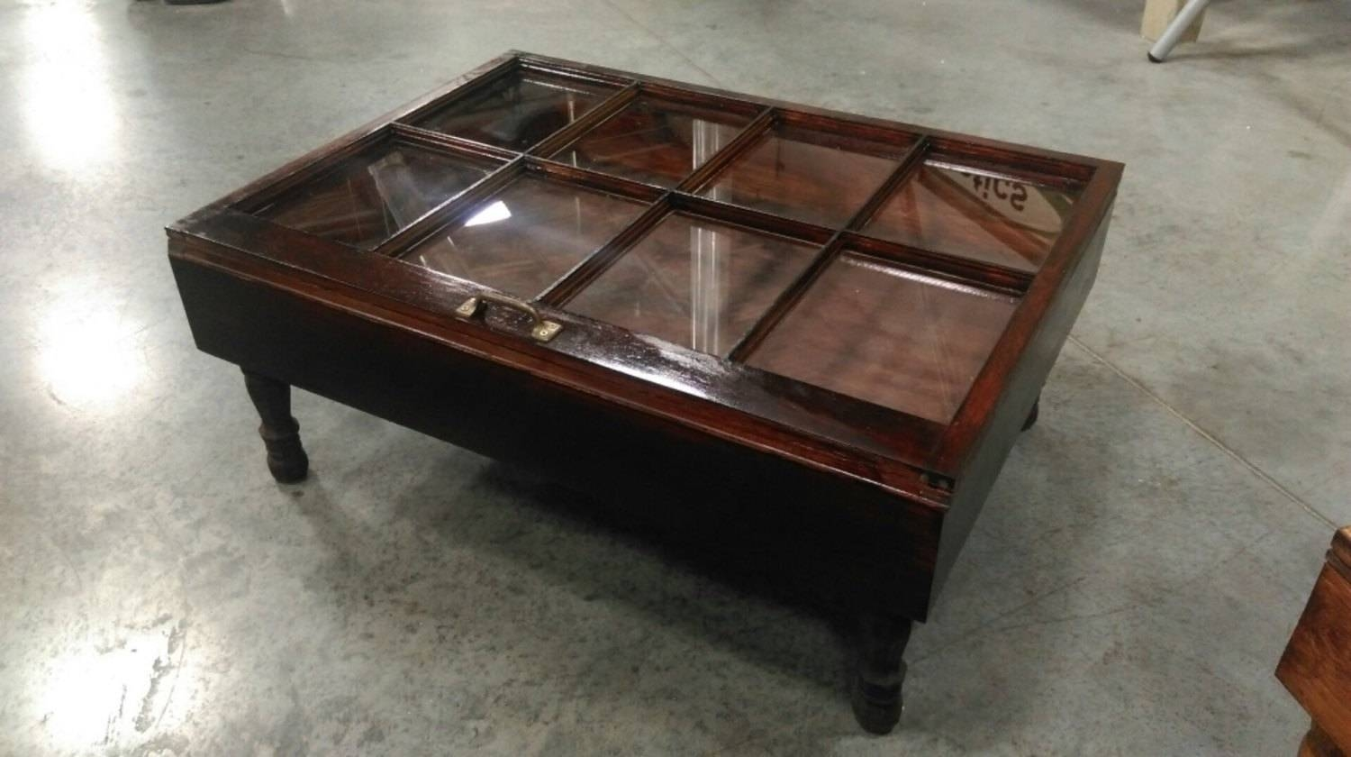 Coffee Table Glass Top Display Drawer in Coffee Tables With Glass Top Display Drawer (Image 6 of 30)