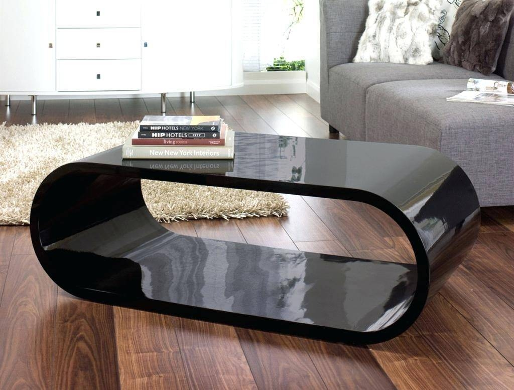 Coffee Table ~ Gloss Oval Coffee Tableaura Black Glass White Table within Oval Gloss Coffee Tables (Image 4 of 30)