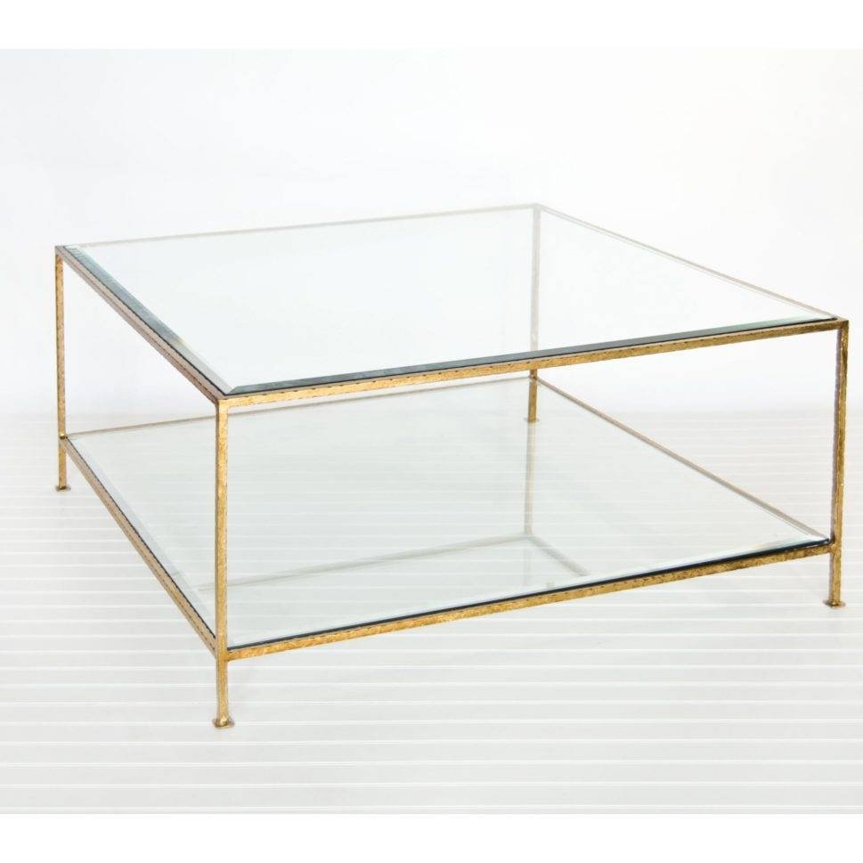 Coffee Table : Gold Glass Coffee Table Best Professionally with All Glass Coffee Tables (Image 5 of 30)