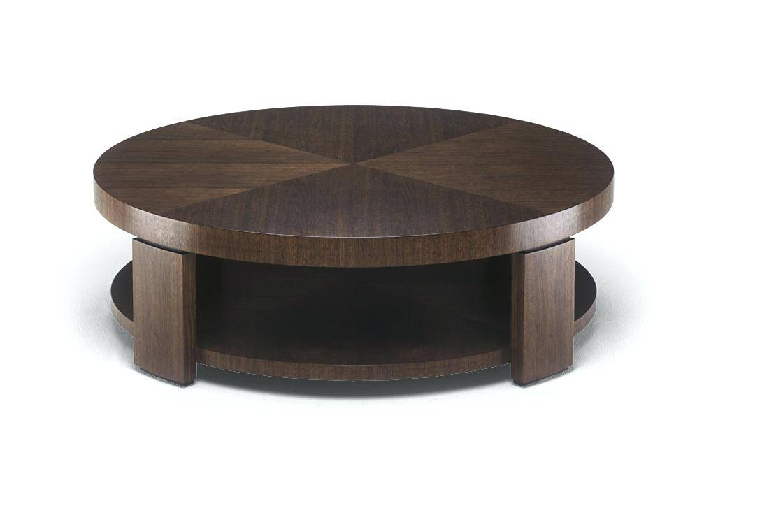 Coffee Table ~ Great Wooden Round Coffee Table Wood Roll Over The with regard to Dark Wood Round Coffee Tables (Image 3 of 30)