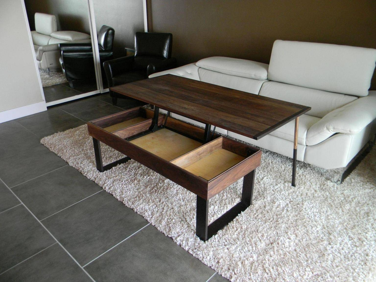 Coffee Table Height | Coffee Table Decoration in Rising Coffee Tables (Image 5 of 30)