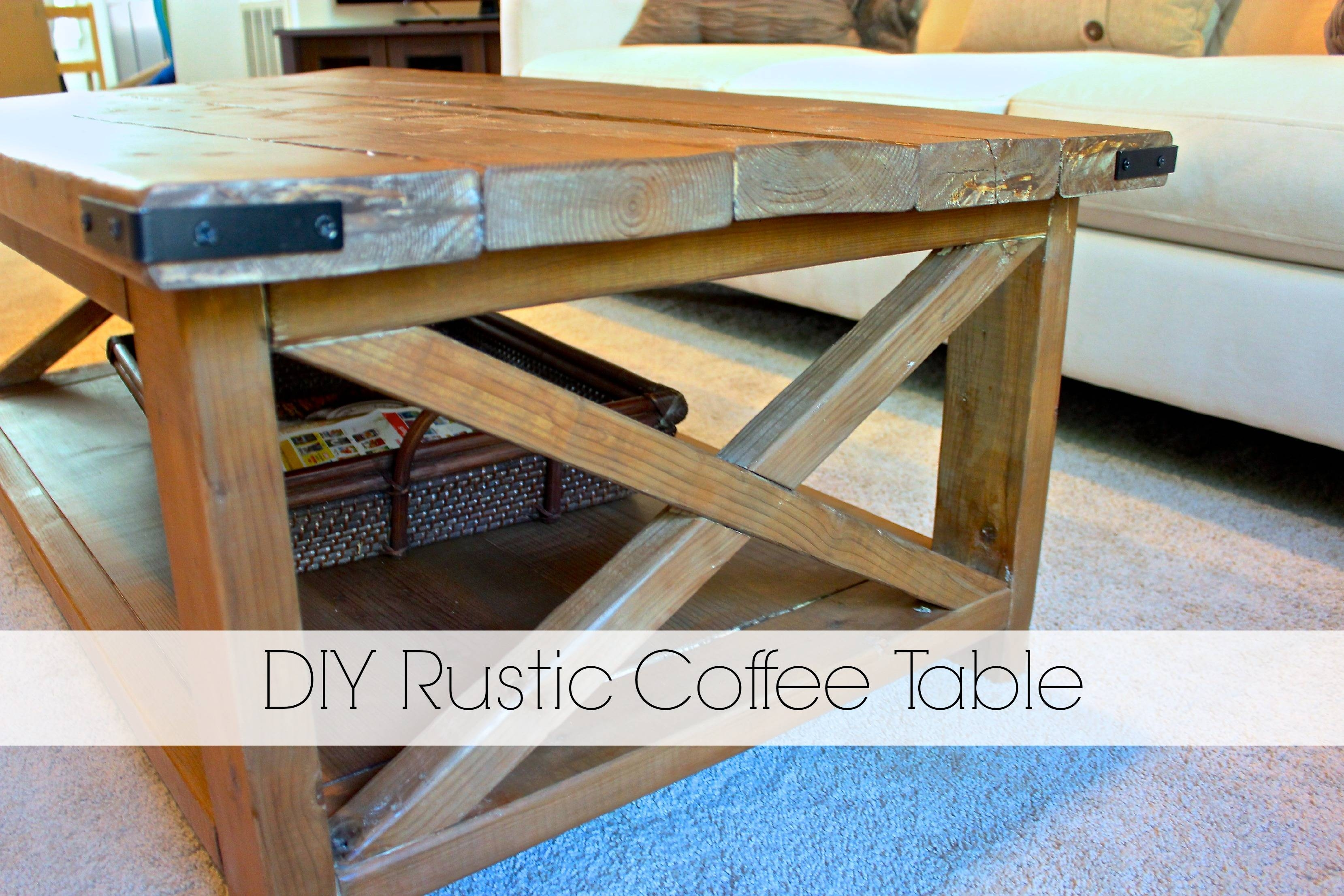 Coffee Table Homemade - Lakecountrykeys throughout Rustic Looking Coffee Tables (Image 6 of 15)