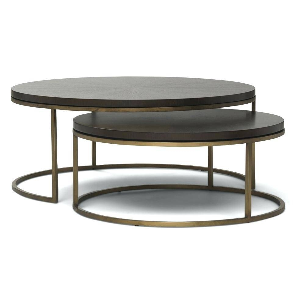 Coffee Table ~ Illustration Of The Round Coffee Tables With intended for Round Coffee Table Storages (Image 5 of 30)