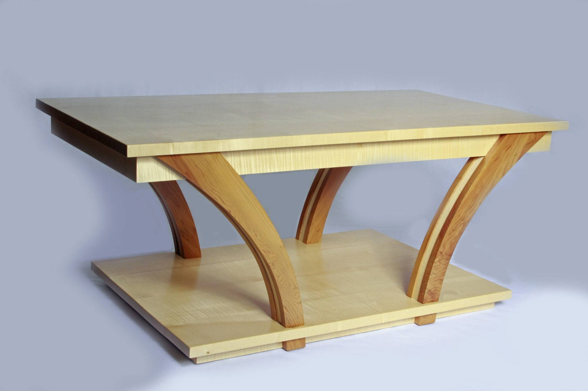 Coffee Table In Ripple Sycamore | Makers' Eye within Bespoke Coffee Tables (Image 13 of 30)