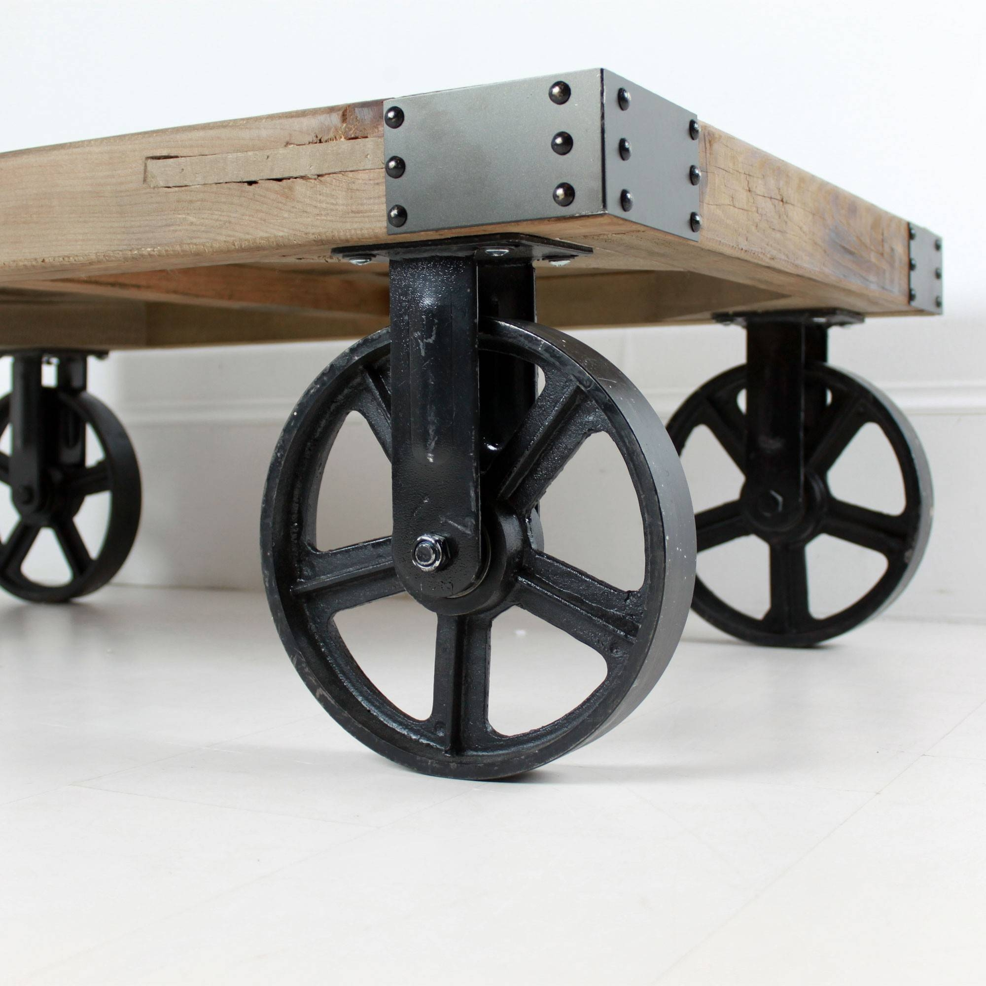 Coffee Table: Incredible Industrial Coffee Table With Wheels Ideas with regard to Coffee Tables With Wheels (Image 10 of 30)