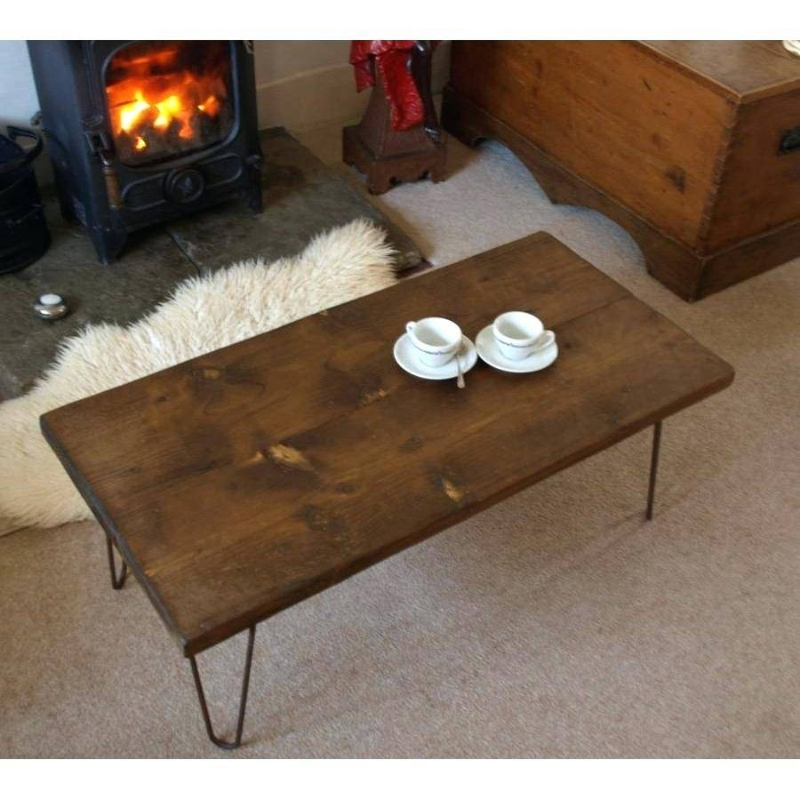 Coffee Table ~ Industrial Style Coffee Table Made Out Of Wood And Regarding Coffee  Table Industrial