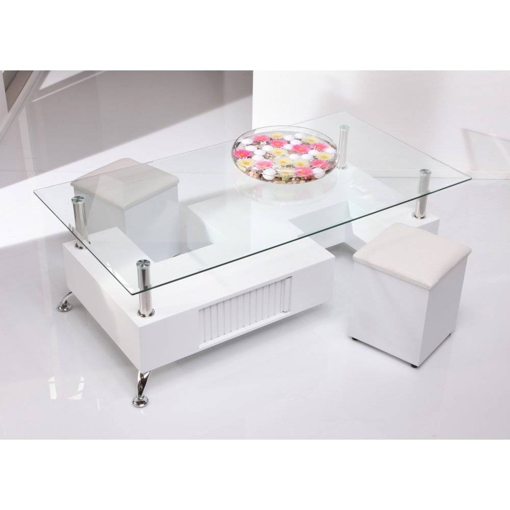 Coffee Table: Inspiring White Glass Coffee Table Design Ideas intended for White Wood And Glass Coffee Tables (Image 10 of 30)
