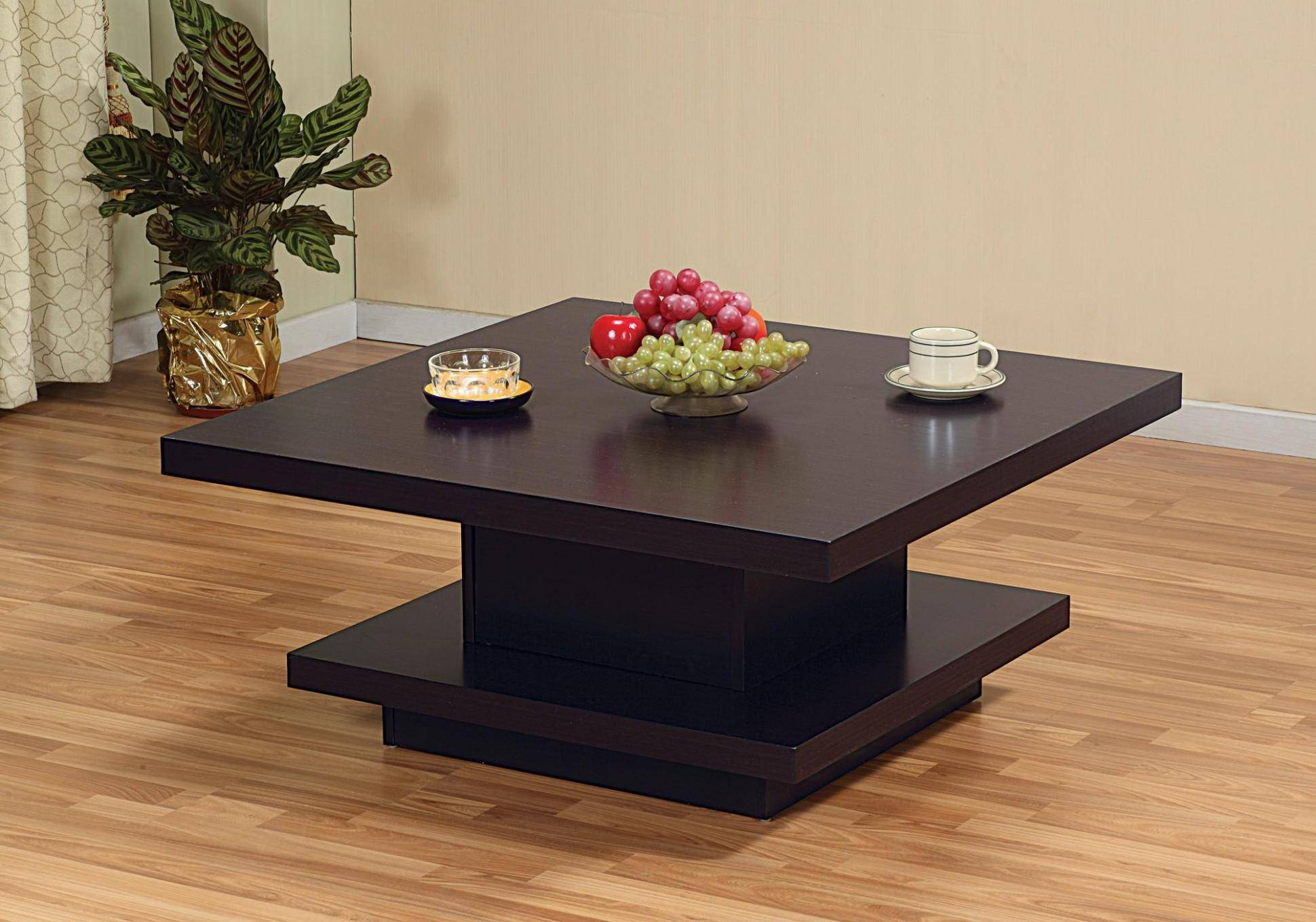 Coffee Table: Inspiringsquare Wooden Coffee Table Design Ideas for Square Dark Wood Coffee Tables (Image 9 of 30)