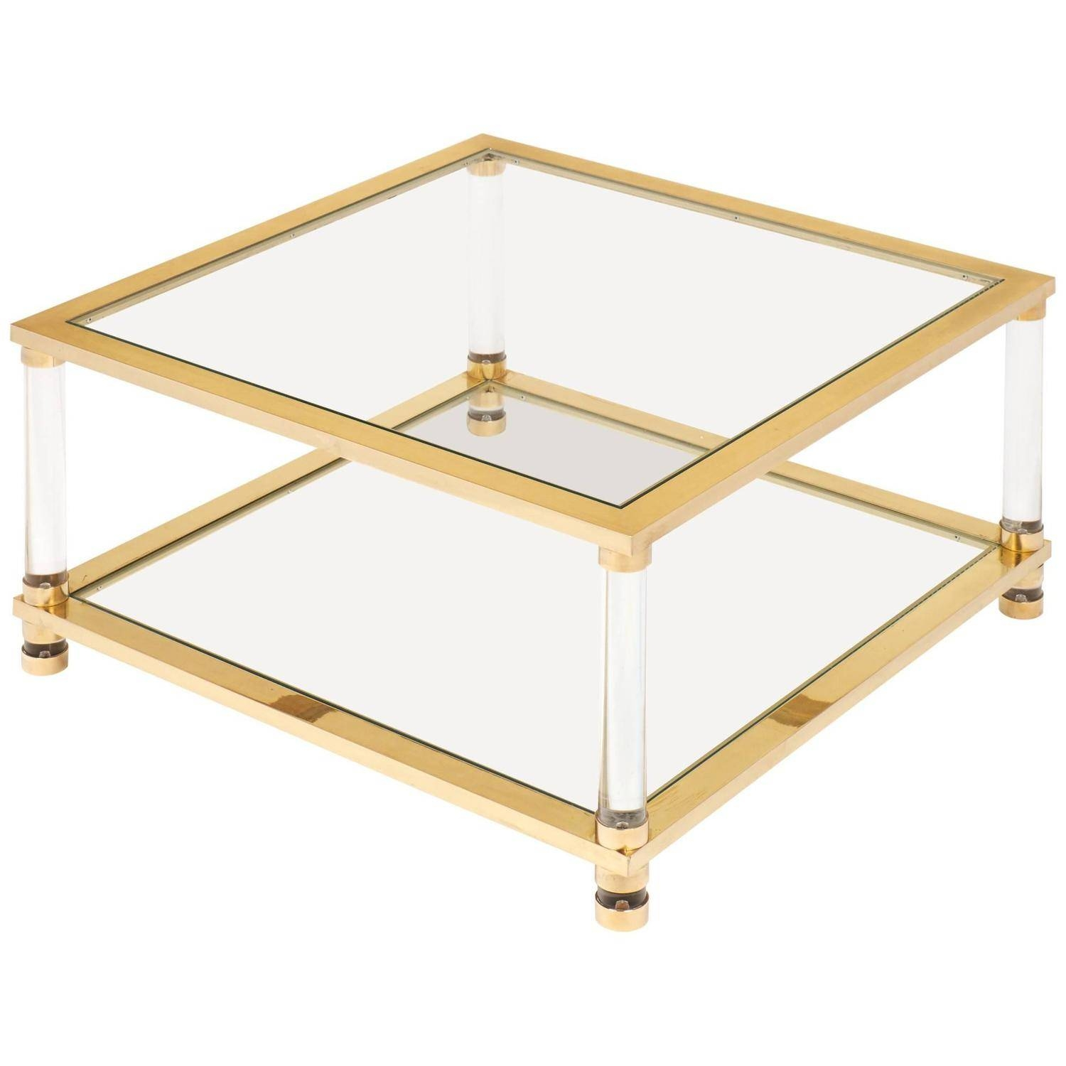 Coffee Table: Interesting Brass Glass Coffee Table Design Ideas pertaining to Antique Brass Glass Coffee Tables (Image 15 of 37)