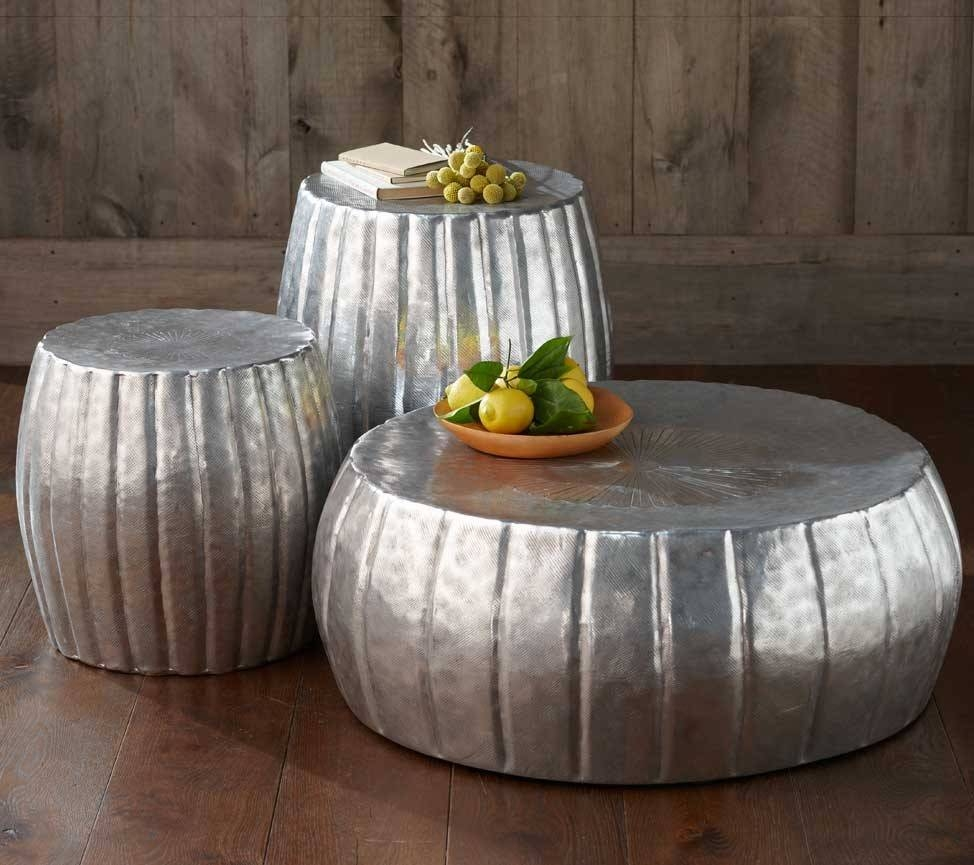 Coffee Table: Interesting Hammered Metal Coffee Table Ideas Copper with Hammered Silver Coffee Tables (Image 8 of 30)