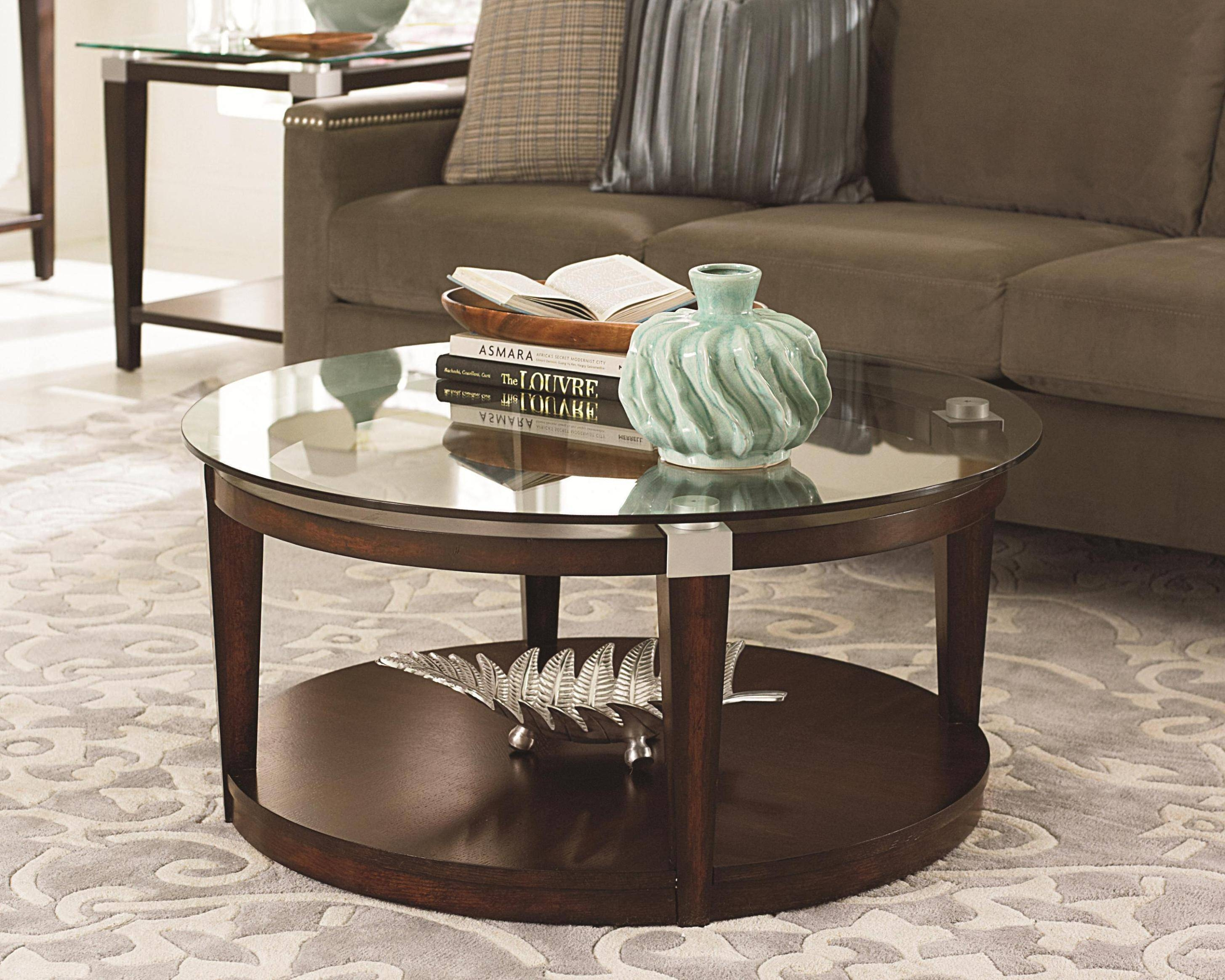 Coffee Table: Interesting Round Glass Coffee Table Design Ideas with regard to Round Glass And Wood Coffee Tables (Image 3 of 30)