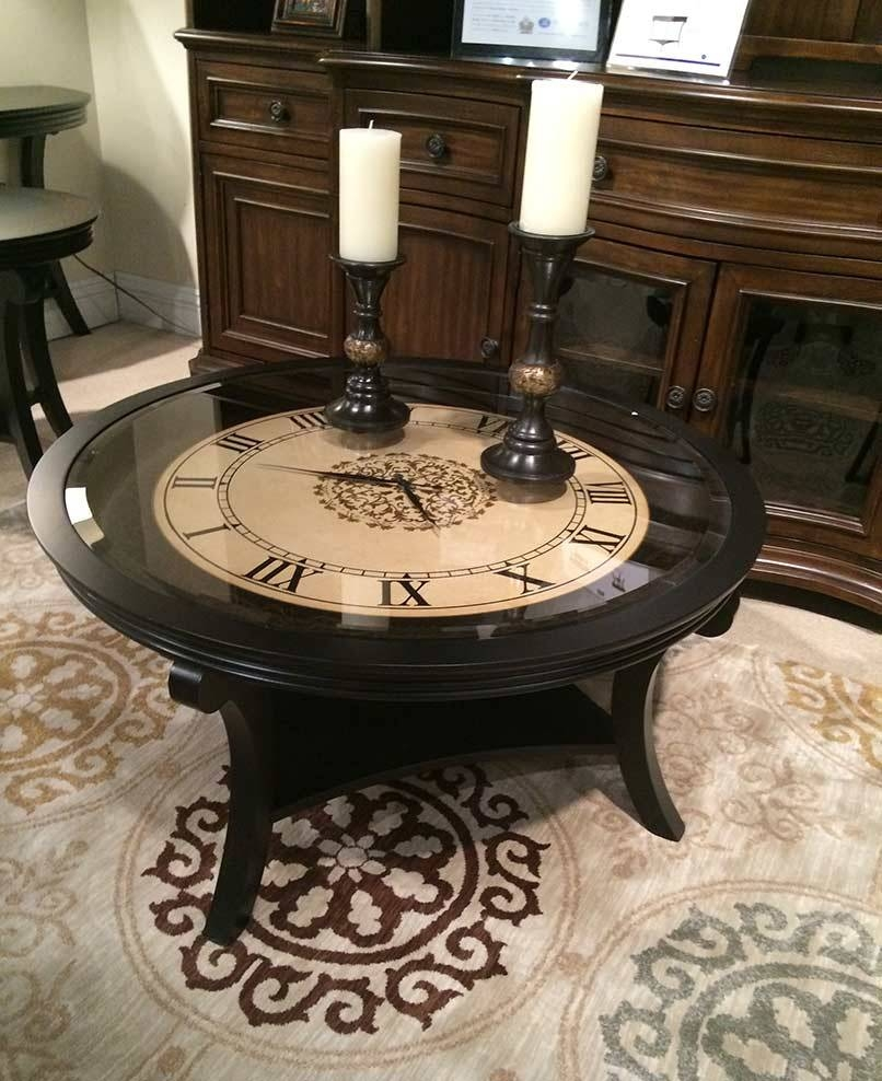 Coffee Table Is Mandatory For Living Rooms – Homes Innovator With Regard To Clock Coffee Tables Round Shaped (View 10 of 30)