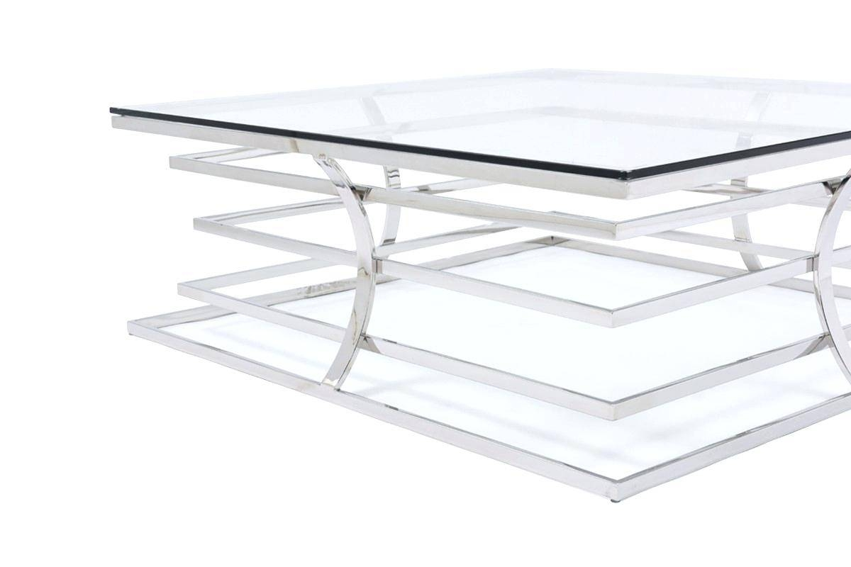 Coffee Table ~ Large Ottoman Coffee Tables Square Glass Top Table throughout Glass Square Coffee Tables (Image 5 of 30)