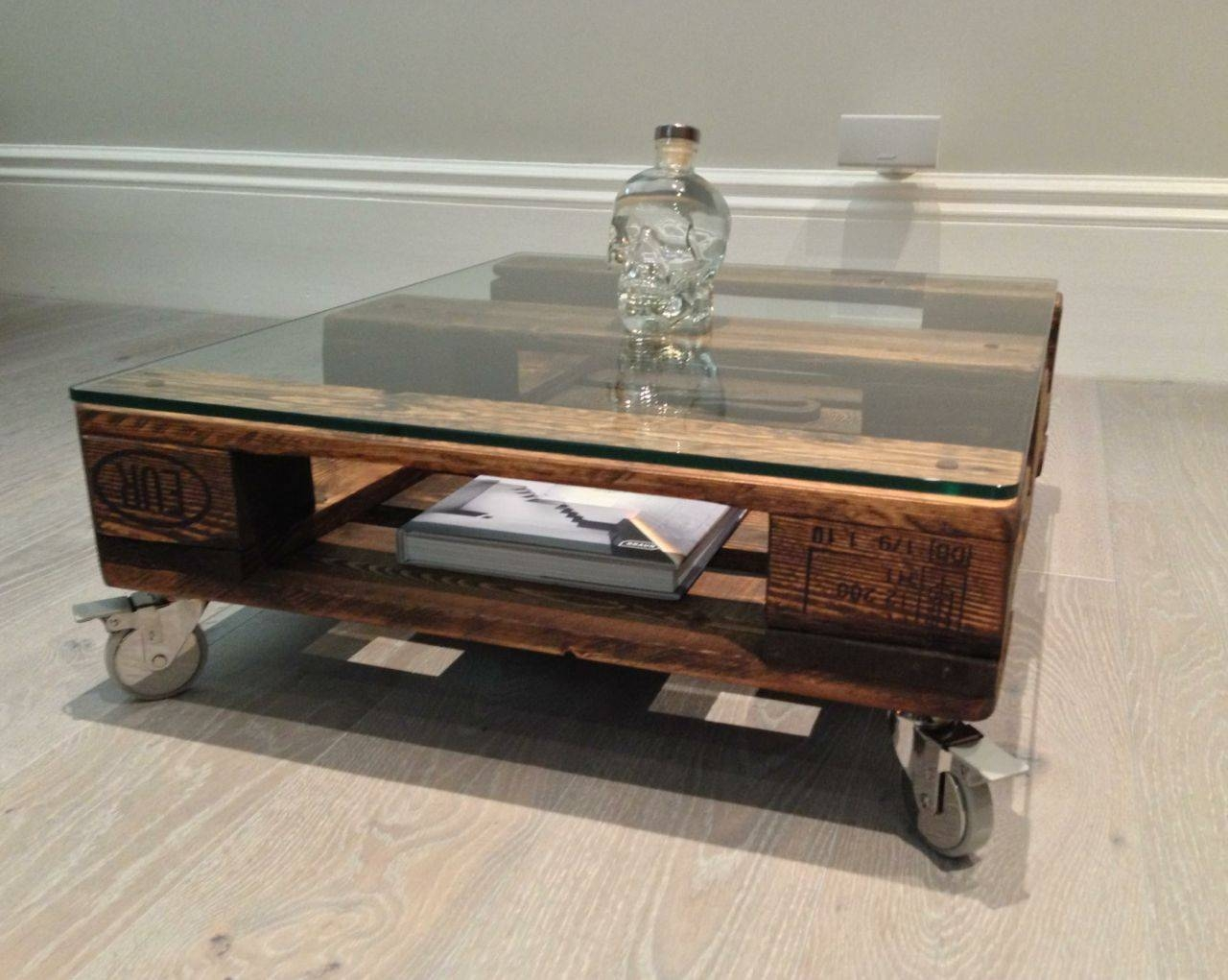 Coffee Table: Latest Coffee Table Glass Top Ideas Glass Top Coffee within Coffee Tables With Wheels (Image 11 of 30)