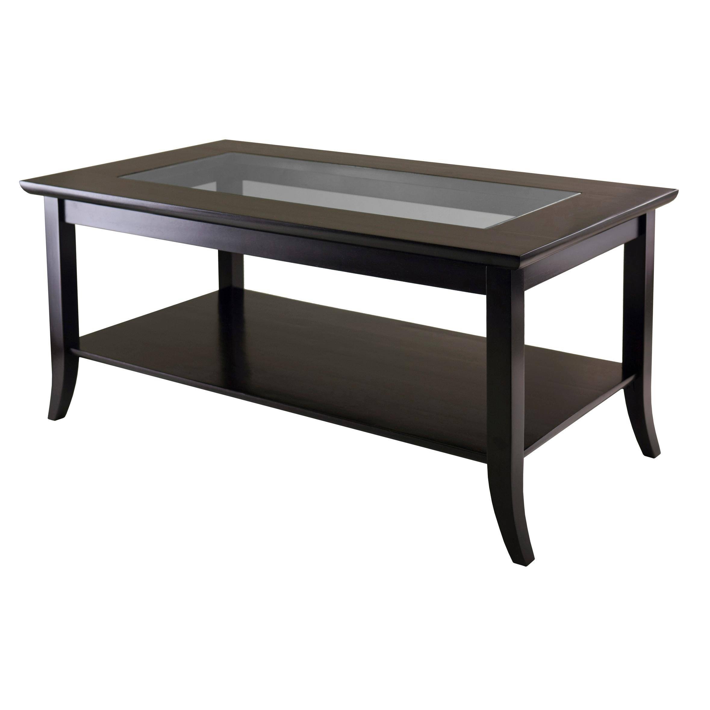 Coffee Table: Latest Coffee Table With Glass Top Design Ideas in Dark Wood Coffee Tables With Glass Top (Image 5 of 30)