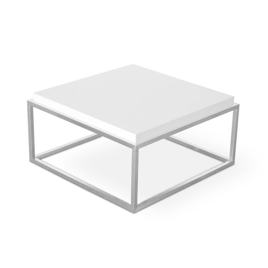 Coffee Table: Latest White Lacquer Coffee Table Designs White within White Square Coffee Table (Image 10 of 30)