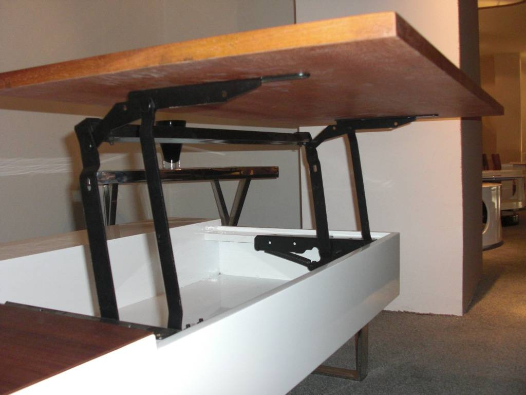 Coffee Table Lift Mechanism | Idi Design for Pop Up Top Coffee Tables (Image 4 of 30)