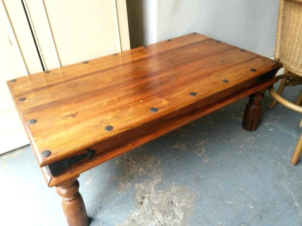 Superior Coffee Table ~ Light Indian Rosewood Coffee Tablesheesham Wood Within Sheesham  Coffee Tables (Image 1