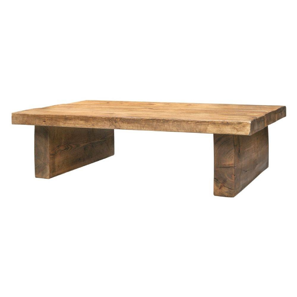 Coffee Table - Low 2 Inch Top 2 Leg | Funky Chunky Furniture with regard to Chunky Wood Coffee Tables (Image 4 of 30)