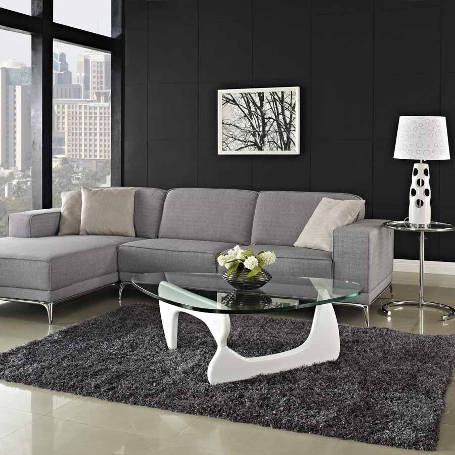 Coffee Table: Magnificent Designer Noguchi Coffee Table Isamu with Coffee Table For Sectional Sofa With Chaise (Image 5 of 30)