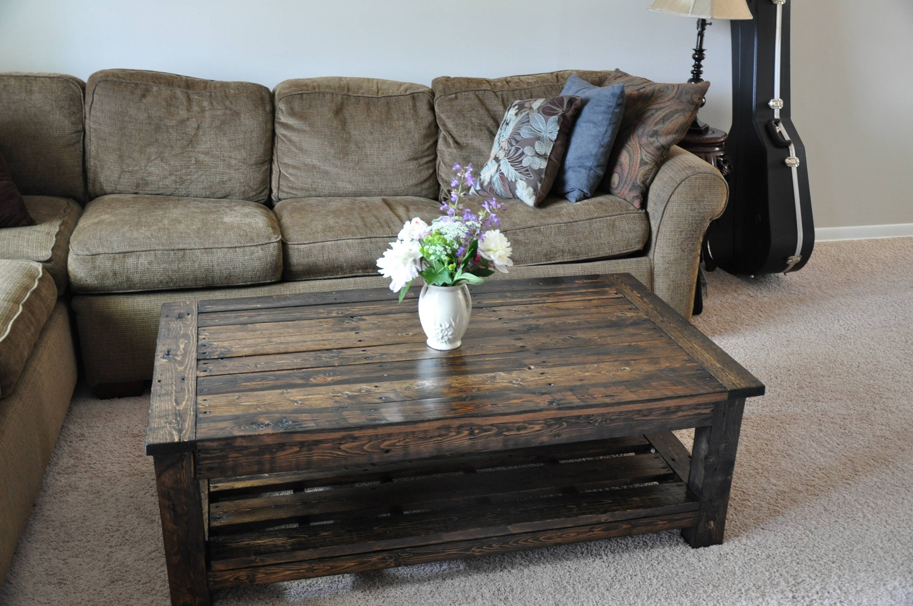Coffee Table: Marvelous Pallet Wood Coffee Table Designs Pallets with regard to Dark Wood Coffee Table Storages (Image 12 of 30)