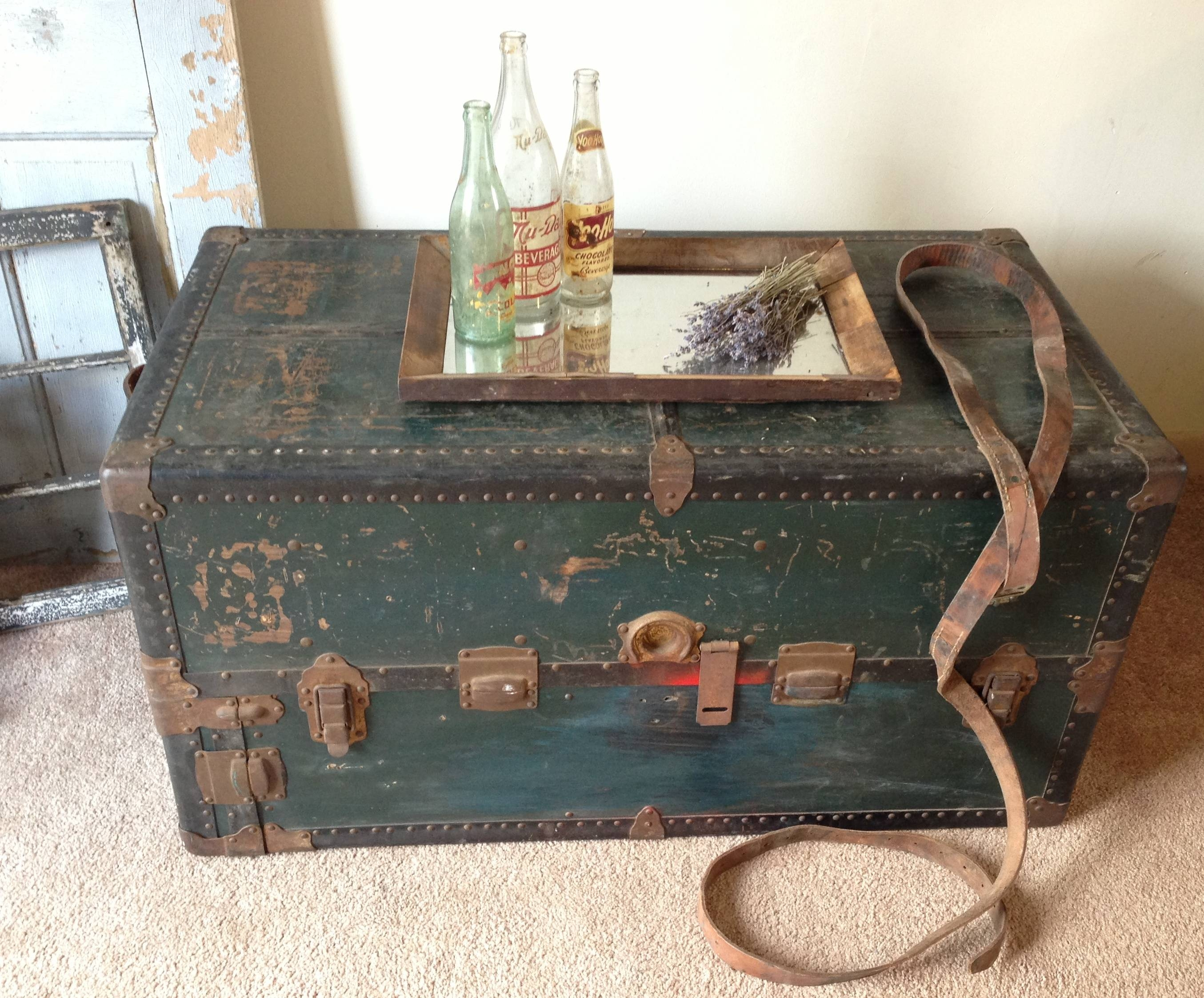 Coffee Table: Marvelous Steamer Trunk Coffee Table Design Ideas in Old Trunks as Coffee Tables (Image 10 of 30)