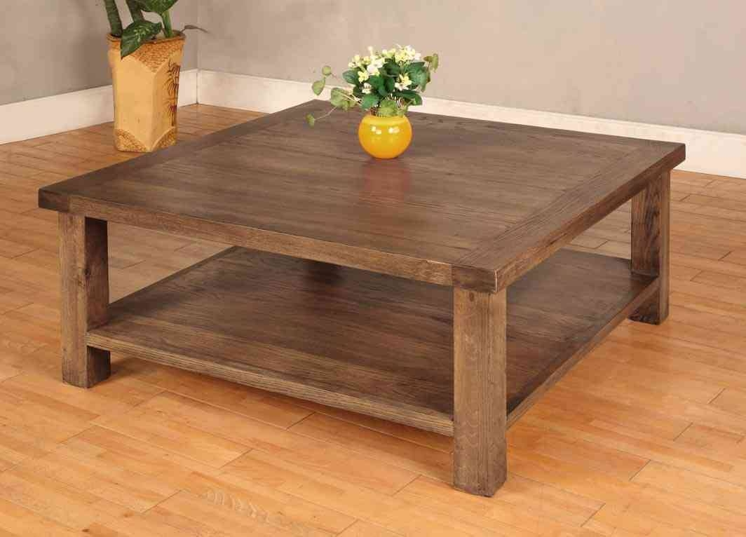 Coffee Table: Mesmerizing Reclaimed Wood Square Coffee Table intended for Square Dark Wood Coffee Table (Image 9 of 30)