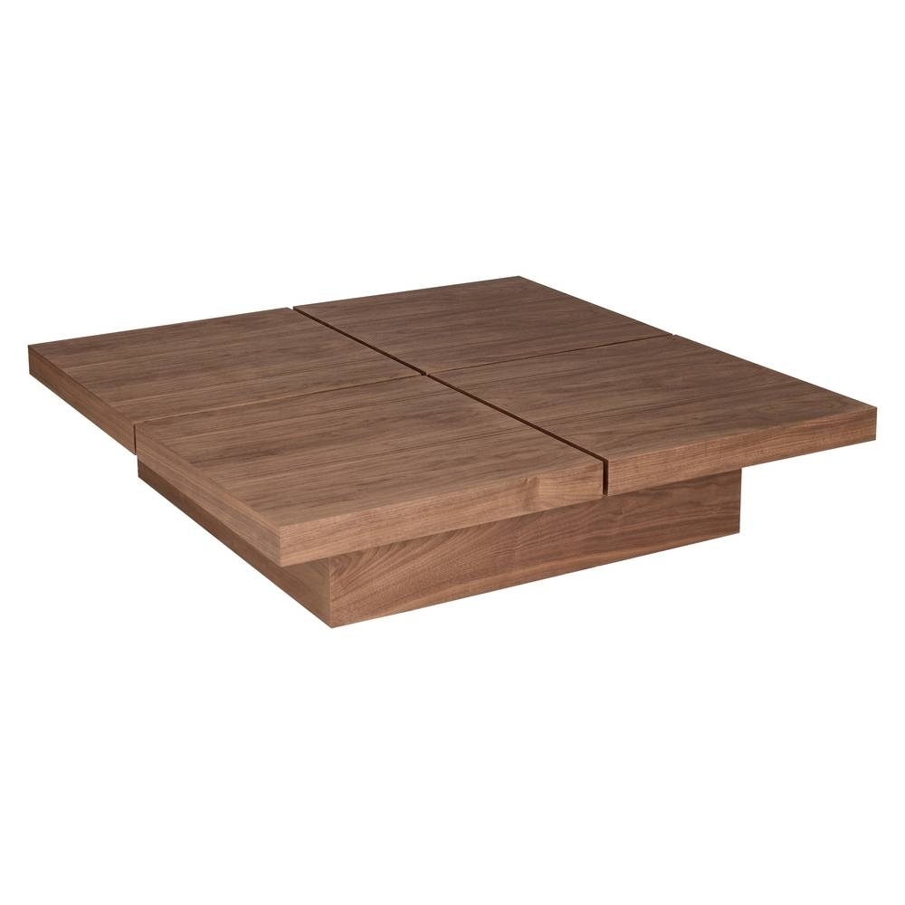 Coffee Table: Mesmerizing Walnut Coffee Table Design Ideas Walnut for Square Low Coffee Tables (Image 1 of 20)