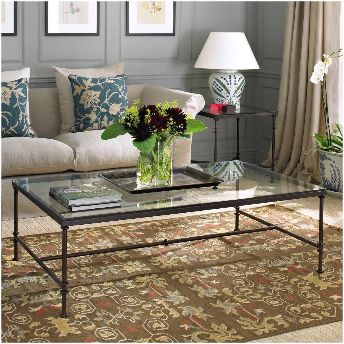 Coffee Table Metal Frame Glass – Cocinacentral.co for Coffee Tables Metal And Glass (Image 2 of 30)