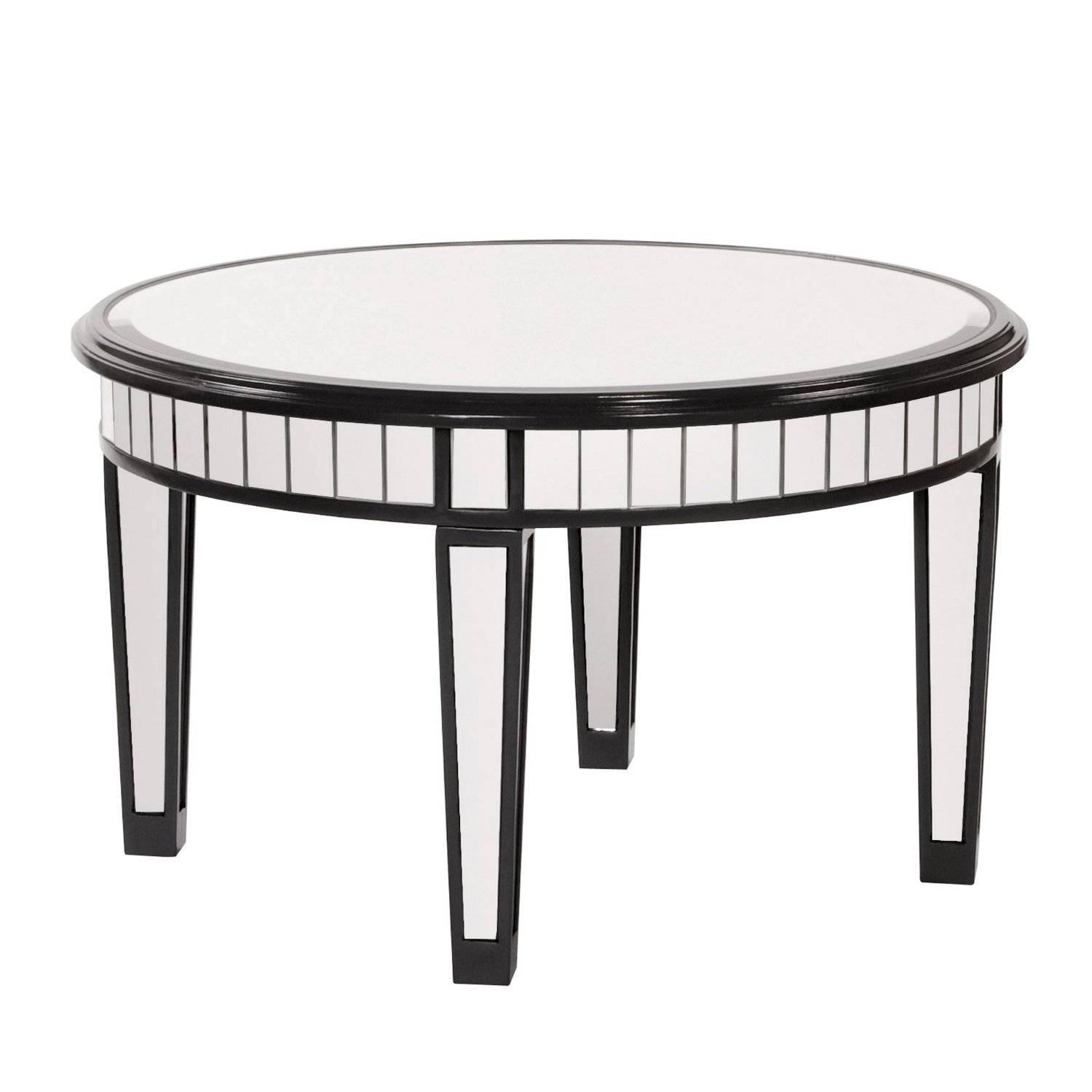 Coffee Table : Mirrored Coffee Table Round Circle Mirrored Coffee within Oval Mirrored Coffee Tables (Image 5 of 30)