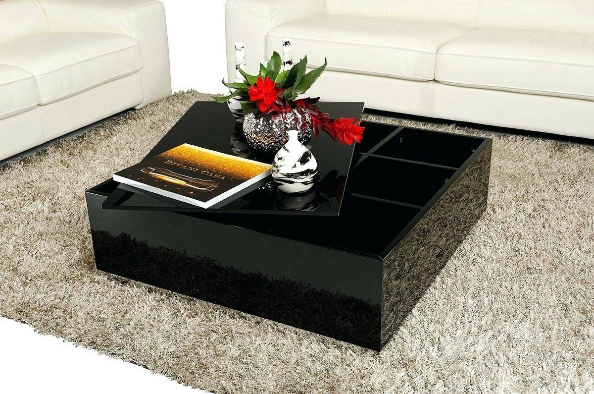 Coffee Table ~ Modern Crocodile Black Coffee Table Wood Setshigh in Round High Gloss Coffee Tables (Image 6 of 30)
