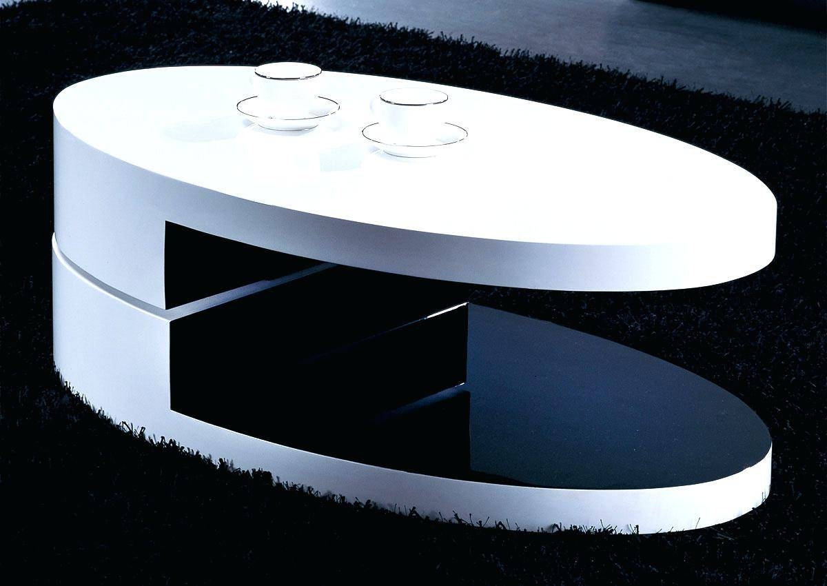 Coffee Table ~ Modern Round Coffee Table With Storage Drawers A with regard to Round High Gloss Coffee Tables (Image 8 of 30)