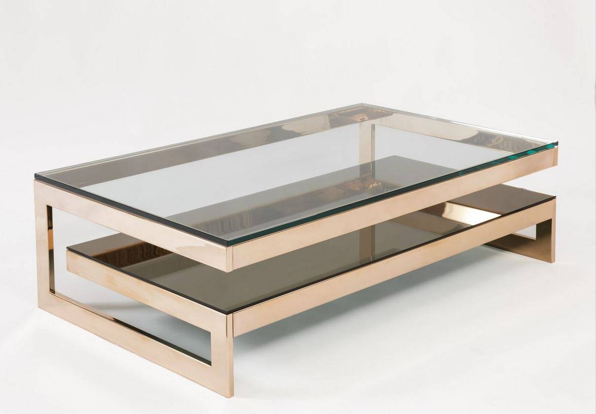 Coffee Table: New Contemporary Gold Coffee Table Design Gold End For Glass Gold Coffee Tables (Photo 23 of 30)