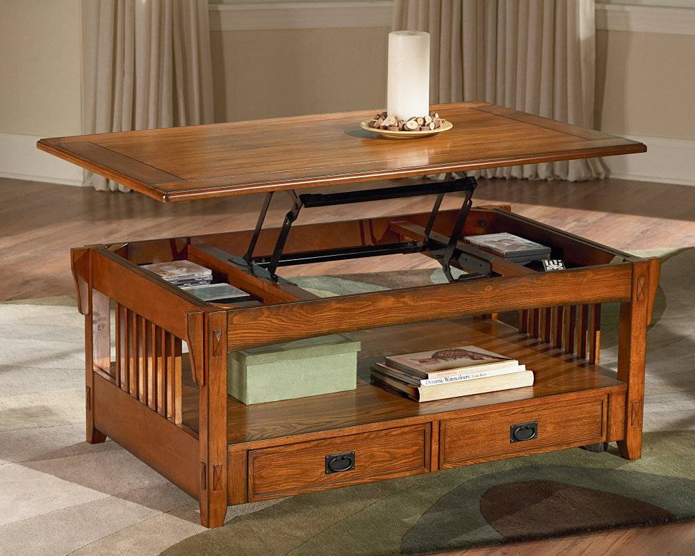 Coffee Table: New Rising Coffee Table Designs Black Lift Top inside Raisable Coffee Tables (Image 10 of 30)