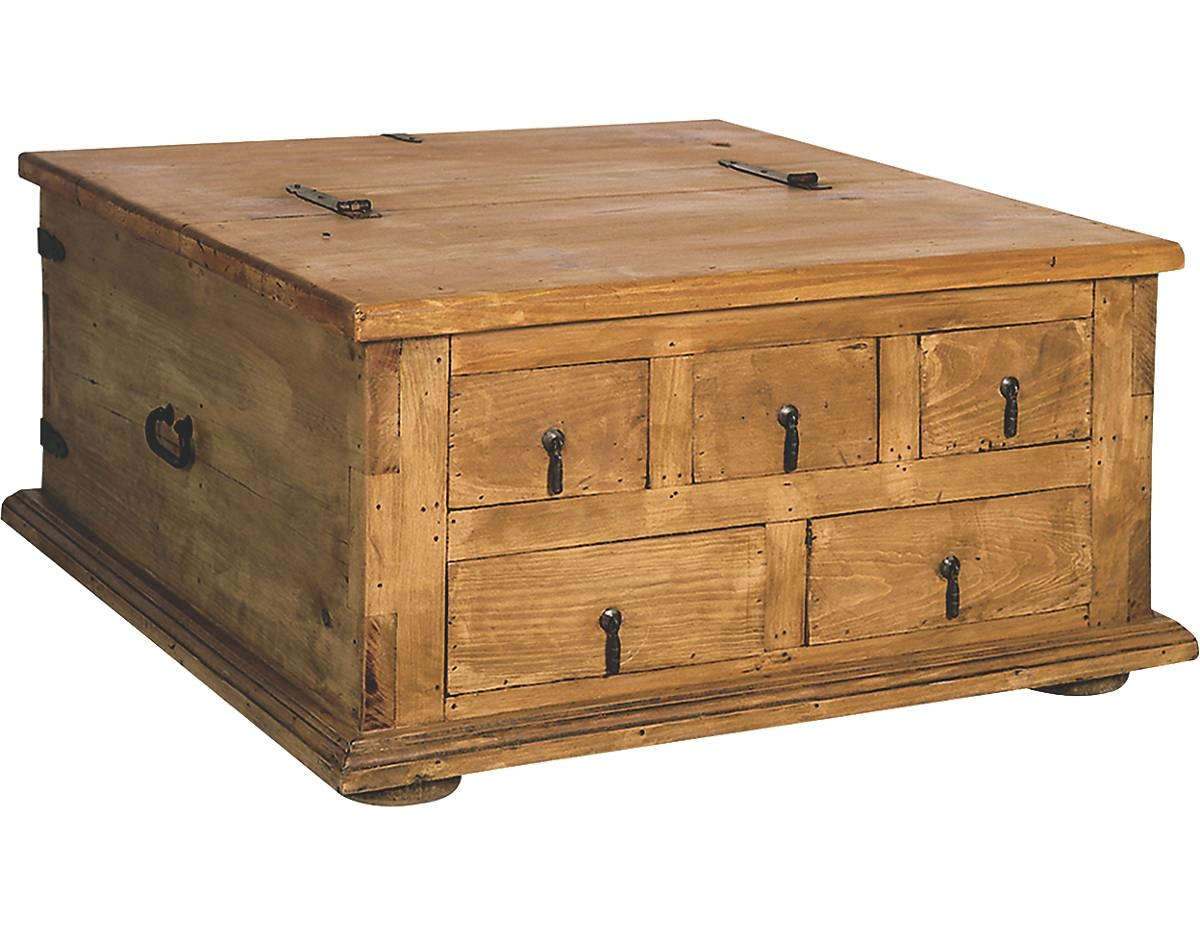 Coffee Table: New Trunk Style Coffee Table Design Ideas Rustic for Square Chest Coffee Tables (Image 6 of 30)