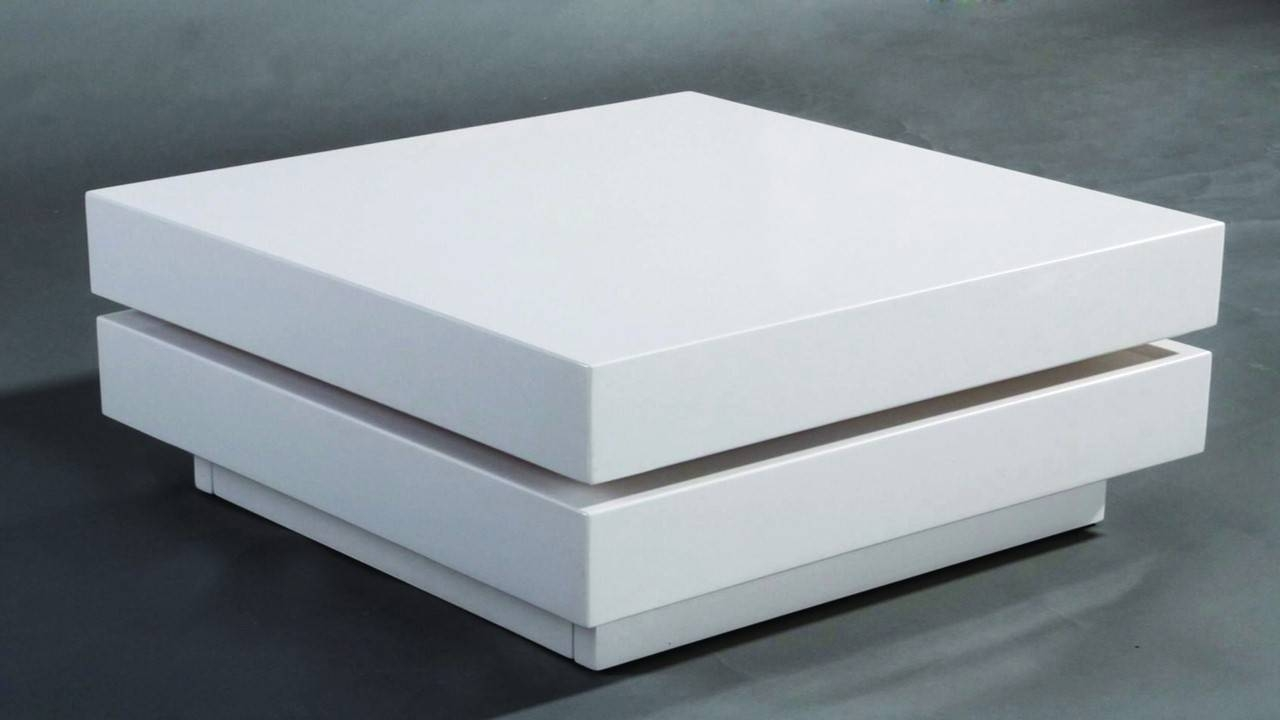Coffee Table: New White Gloss Coffee Table Design Ideas White Pertaining To White Coffee Tables With Storage (View 3 of 30)