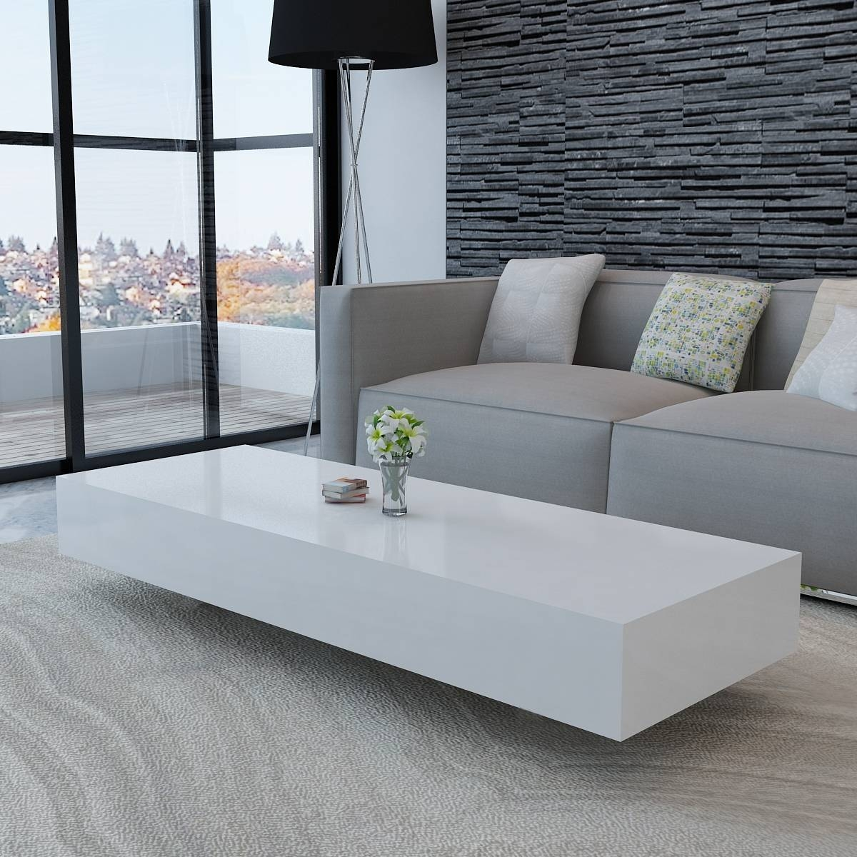 Popular Photo of Coffee Tables White High Gloss